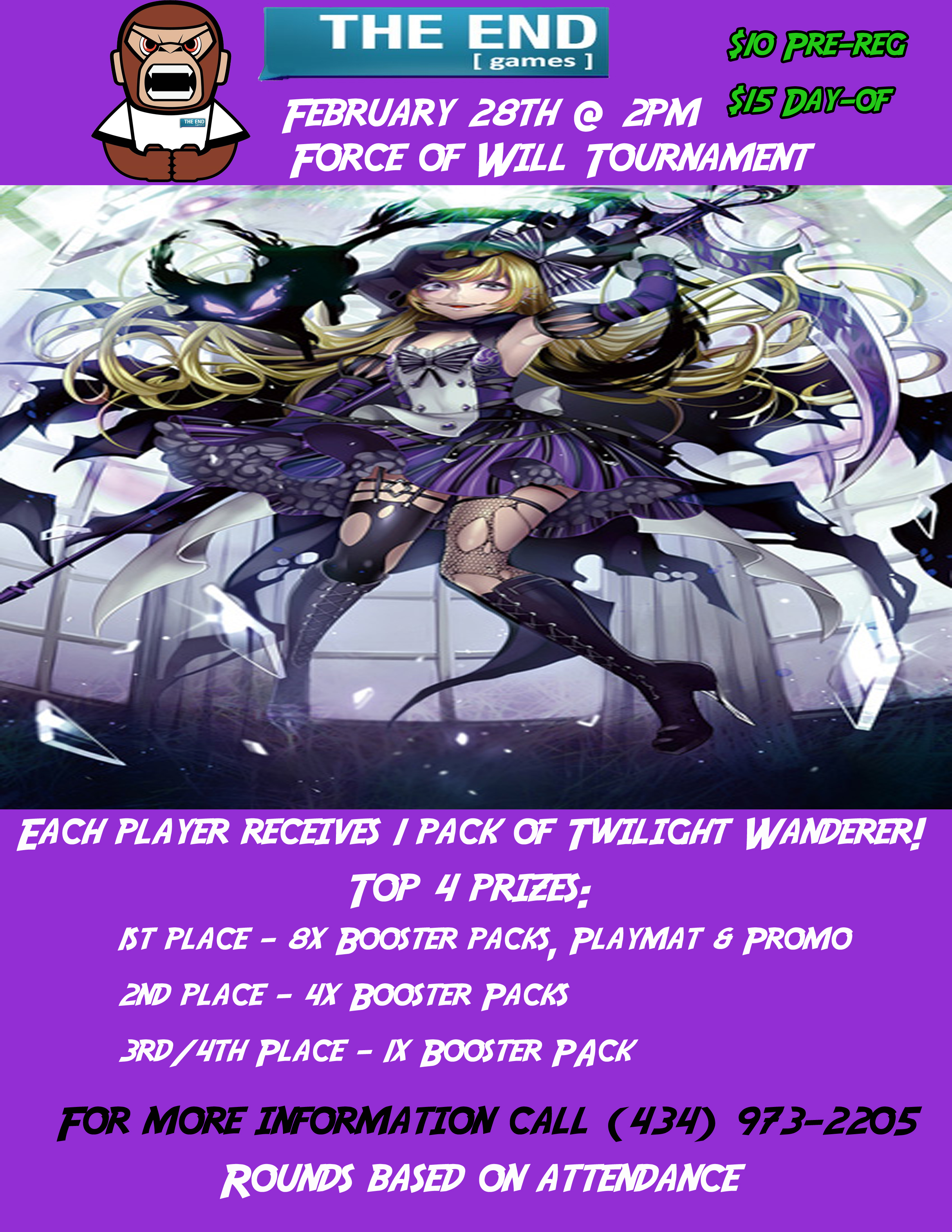 Feb 28th Force of Will flier copy